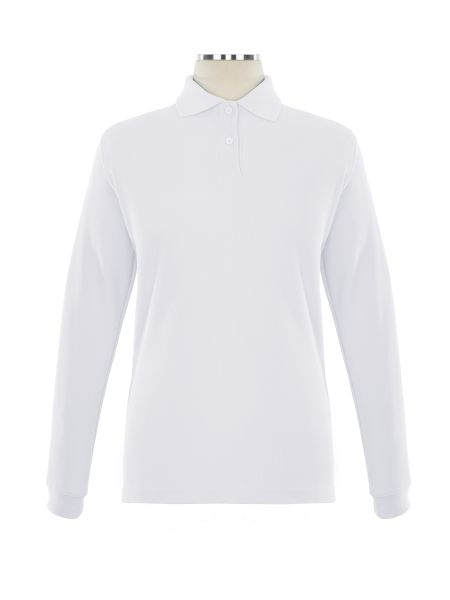 Long Sleeve Pique Embroidered Golf Shirt - Female