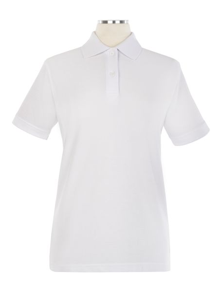 Short Sleeve Pique Embroidered Golf Shirt - Female