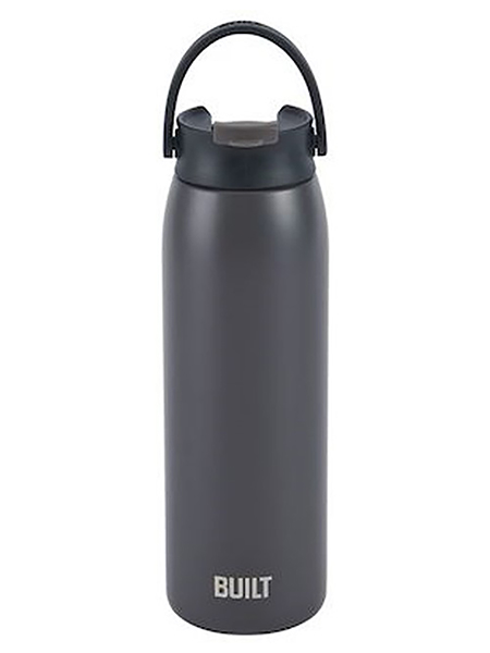 Built Gramrcy Water Bottle - Charcoal Grey 20 oz