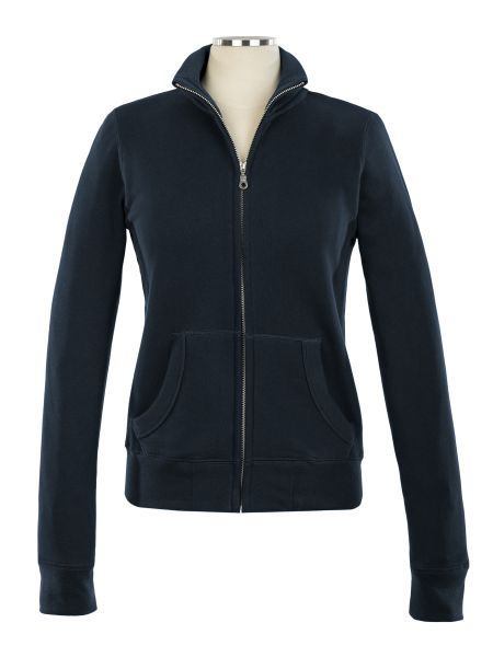 Full Zip Embroidered Sweat Top - Female