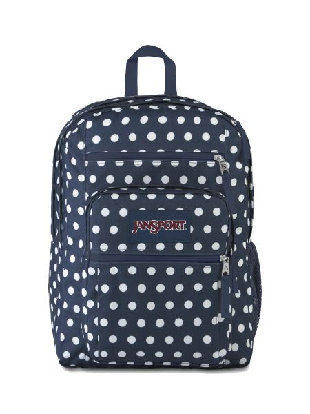 'BIG STUDENT' - Jansport Knapsack - in Dark Denim Polka Dot