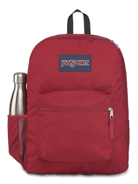 'CROSS TOWN' - Jansport Knapsack - in Viking Red